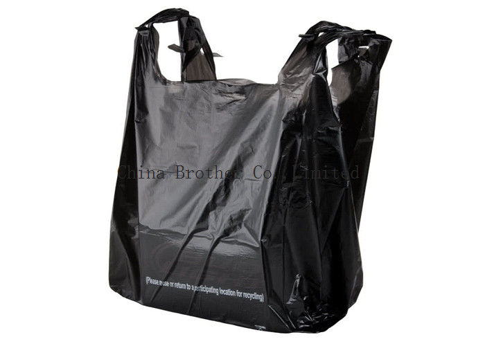 Printed Plastic Carrier Custom Printed Plastic Shopping Bags Poly T Shirt Shape