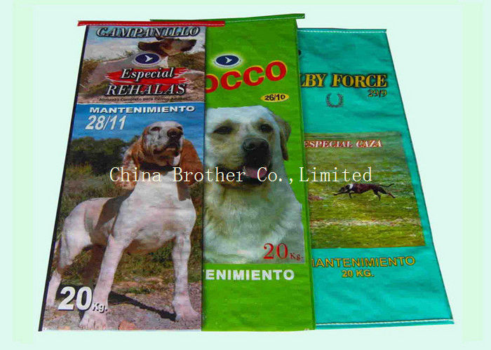 Woven Polypropylene Empty Feed Bags , Reusable Animal Dog Feed Bag  Eco - Friendly