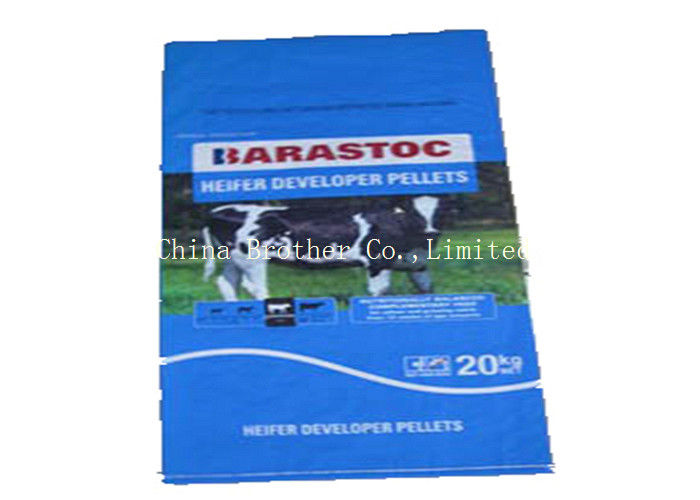 Bopp Laminated PP Woven Horse Feed Bag Custom Packing For Animal Feed