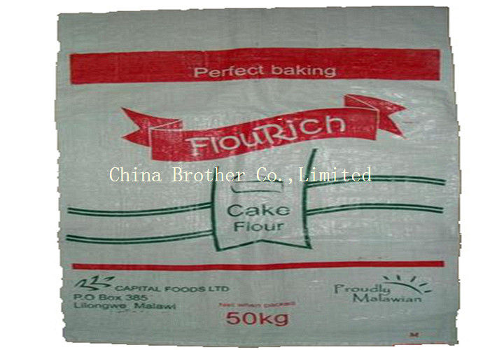 Dustproof Heavy Duty Plastic Bags , 25kgs Packing Bopp Laminated Pp Woven Bags